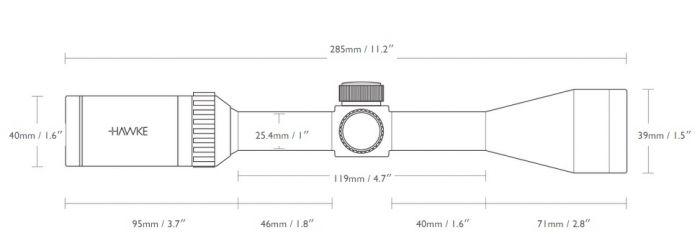 Hawke Vantage 2-7x32 ao ABS mil-dot telescópica 14111 parallaxeausgleich nuevo