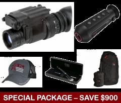 AGM PVS-14 Monocular Night Vision Device, Dual AA Battery,GEN 2+ Photonis Autogated Tube – 64lp/mm (minimum) w/Manual Gain