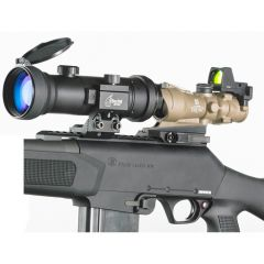 D-950PW B&W Elite NV Clip-On Attachment, White Phosphor Photonis ECHO Auto-gated, with Manual Gain, HD Optics