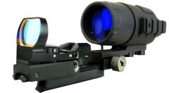 eXact Precision 2.6x44 White Phosphor Gen I NV scope kit with a Sensor Reflex Sight Comb