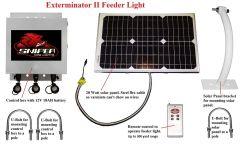 Sniper Hog Lights Exterminator II Feeder Light Green