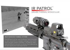 IR Patrol M300W Thermal Monocular 640x480 19mm 60HZ 1x-8x