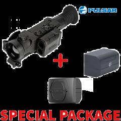 Pulsar Trail 2 LRF XQ50 Thermal Riflescope Package