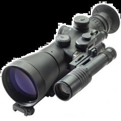 D-740UW 4.0x62 B&W Premium NV Sight, White Phosphor MILspec Gen 3+ Unfilmed with Manual Gain