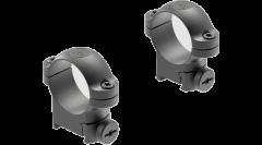 """Leupold Ringmounts Scope Ring Set Sako Medium 1"""" Matte Black Steel"""