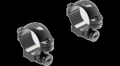 "Leupold Ringmounts Scope Ring Set Ruger #1, 77/22 Low 1"" Black Gloss Steel"