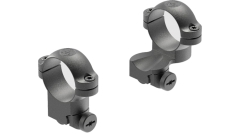 "Leupold Ringmounts Scope Ring Set Ruger #1, 77/22 Medium Extended 1"" Matte Black Steel"
