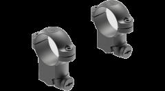 """Leupold Ringmounts Scope Ring Set Ruger M77 High 1"""" Matte Black Steel"""
