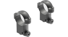 """Leupold Ringmounts Scope Ring Set Ruger M77 Super High 1"""" Matte Black Steel"""