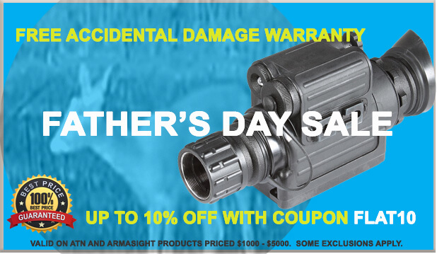 night vision goggle and thermal imaging father's day sales promo